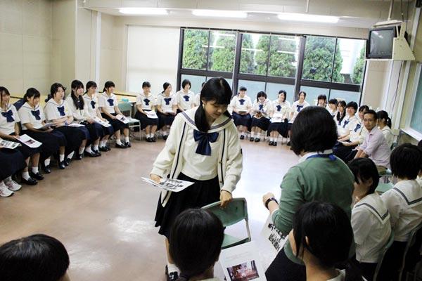 福岡の高校、博多女子。
